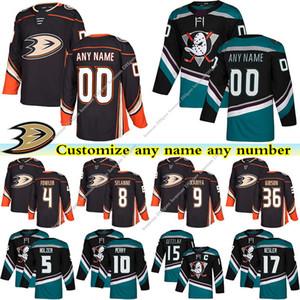Anaheim Ducks jerseys 9 KARIYA 15 GETZLAF 8 SELANNE 10 PERRY 17 KESLER 36 GIBSON custom any number any name hockey jersey