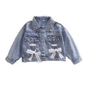 2020 Girls Denim Jacket Cardigan Coat Tails Jean Outwere Long Sleeum Children Clothes Spring Girls