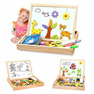 Bambino Bambini in legno Animal Magnetism Cavalletto Doodle Consiglio Newborn Lavagna giocattolo Jigsaw