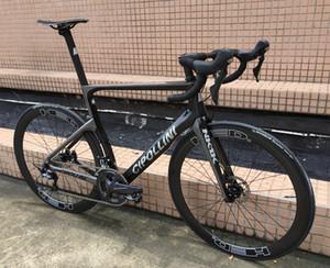 T1000 3K MCipollini NK1K cheio de carbono estrada bicicleta completa com 105 R7020 disco rodas groupset 50 milímetros Disc carbono transporte livre