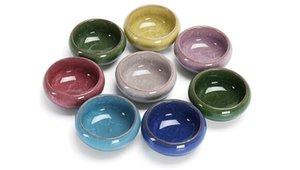Une variété nouvelle de la couleur en céramique Ice Crack Petit pot Huile Essentielle Bowl Maquillage Beauté Masque bricolage visage visage Bowl