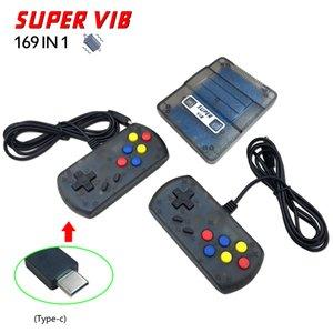 Super VIB TV Game Console Built-In 169 Games Handheld Com 2 Vibration Controladores para 8Bit Retro Video Game Console PK NES PXP3 PAP GB Jogo
