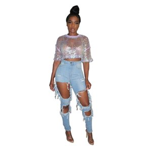 Plus Size 2020 Ripped Denim Jeans Woman Jeans Mujer Womens Femme Ladies Pants Women Trousers Jeansy