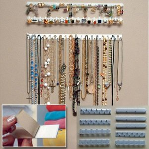 Jewelry Display Rack 9-in-1 dell'esposizione dei monili Organizzatore pasta adesiva Wall Hanging Collana gancio 40FP19