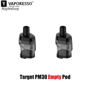Vaporesso alvo PM30 Pod 3,5 ml Capacidade vazio Cartucho 2PCS / PACK Fit GTX Malha Bobina para a Target PM30 Pod Kit Authentic