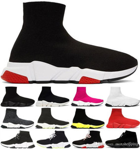 luxury Designer casual sock Shoes Speed Trainer Casual of triple Black Red Black Fashion Brand Socks Boots sports Sneaker Trainer