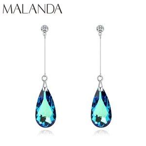 Malanda original Cristal De Goutte d'eau Boucles d'oreilles pour les femmes Boucles d'oreilles Fashion long Dangle mariage bijoux cadeau