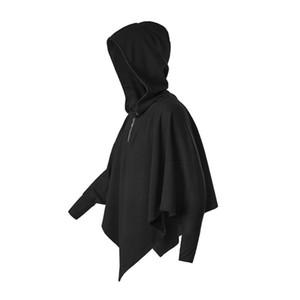 2020 New Mens Hip Hop Bat manga comprida Hoodies Mysterious fantasmas trajes moletom com capuz Dia das Bruxas Moda Roupa urbana