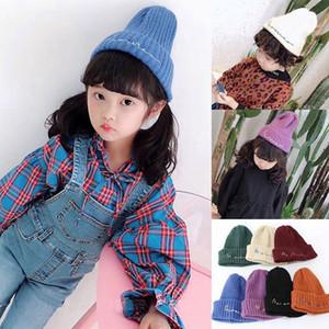 أطفال محبوك قبعات طفل الشتاء محبوك القبعات الدافئة العصرية بيني الكروشيه قبعات القبعات في الهواء الطلق 8 أنماط RRA1720