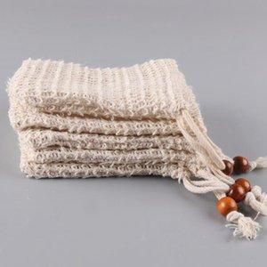 Сетка туалетного мыла мешок экономайзер сумка Durablel Природного мыло для души сумка Exfoliator Sponge Чехла для душа ванны Вспенивания OOA7441-5