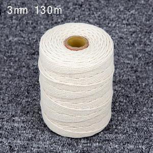 Home 1mm-3mm long Coton Cordon Corde Artisanat Macrame Chaîne Pièces approprié Vente Chaude