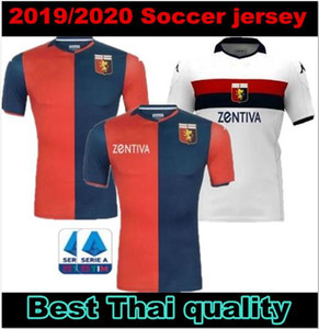 Genoa Cricket soccer Jersey 19 20 Home away away white red blue S-XXL size Football uniformThai top quality In stock T-shirt