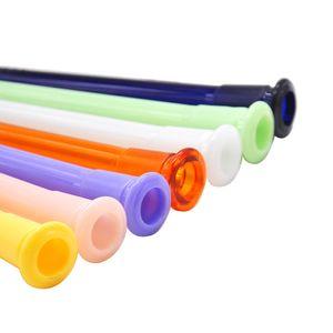Diffusore disteso acrilico 140mm infrangibile 14mm 18mm 18mm maschio femmina congiunto colorato plastica giù gambo per il tubo di olio di vetro tubo di acqua Bong