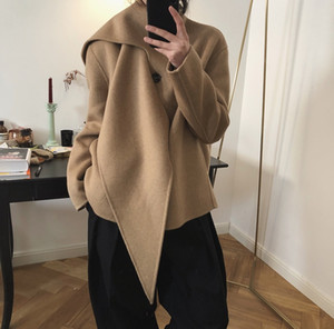 Lufu chic simple lazy scarf Scarf wool collar wool double-sided woolen coat woolen coat women