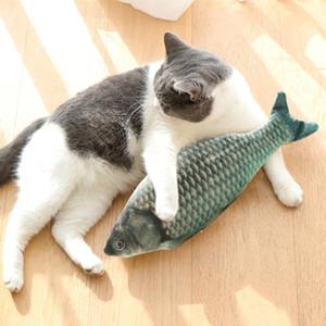 30 см Electronic Pet Cat игрушка электрический USB зарядка моделирования рыб игрушки собака кошка жевать играть кусание поставки падения # 15