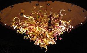 Main en gros Blown Lustre en verre de Murano LED Éclairages Source Chihuly Modern Style Art Glass Ceiling lustres Pendentif Lampes