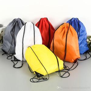 Kinder Kordelzug Rucksäcke Reise Aufbewahrungstasche Strand Outdoor Jungen Mädchen Kleidung Sport Sporttasche Kleidung PE Tanzschuh Tasche