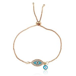 Bleu Cristal Mauvais Œil Bracelets Pour Femmes Cadeaux À La Main Chaînes En Or Bijoux Chanceux Bracelet Femmes Bijoux