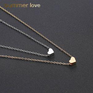 Catena New Classic clavicola collana Piccola Collana Amore cuore per le donne Ragazza Gold argento collana girocollo partito dei monili di Wedding Gifts