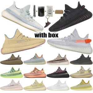 2020 mais novo Cauda Top Quality V2 Mens Designer Sneakers Kanye West Antlia Synth Lundmark Gid Brilho Form Zebra Creme Mulheres Running Shoes 36-48