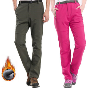 Winter Fleece Pants Men Waterproof Soft Shell Thick Warm Outdoor Climbing Ski Trousers Male Casual Joggers Cargo Tactical Pants