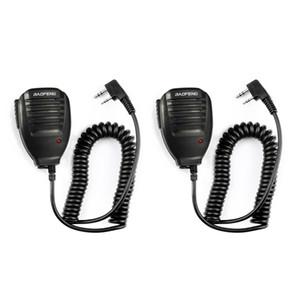 보풍 휴대용 라디오 UV5R BF-888S BF-UVB3 플러스 무전기를위한 2PCS 보풍 UV5R 핸드 마이크 스피커 MIC