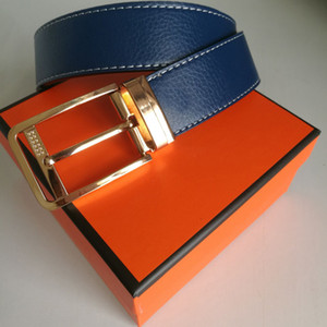Designer Belts for men with Gold Silver smooth buckle women belt luxury accessory Waist Strap plus size 105cm~125cm with box