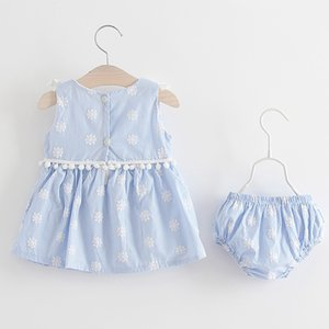 Infant Kids Girls Clothes 1st Birthday Dress Summer Girl Dresses Baby Girl Party Boutique Princess Dress Clothes Easter Psclw