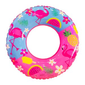 Verão Flamingo Abacaxi Flutuadores Infláveis Espessamento Rosa Transparente Natação Círculo Mulheres Flutuante Anti Desgaste Direto Da Fábrica 10 8xl5I1