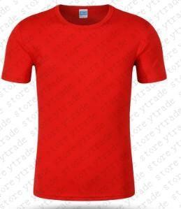 Homens Academias Vestuário t-shirt sólido Mens aptidão t-shirt camisas apertadas Homens Outdoor T superior em branco 003