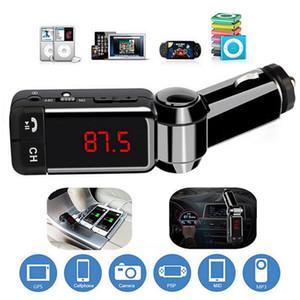 새로운 BC06 FM 송신기 블루투스 차량용 키트 차량용 MP3 플레이어 핸즈프리 키트 BC06 LED 디스플레이 듀얼 USB 충전기