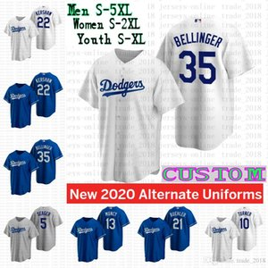Los Angeles Dodgers 2020 Clayton Kershaw Mookie Betts Cody Bellinger Corey Seager Walker Buehler Justin Turner Juventude Mulheres Jersey 5XL