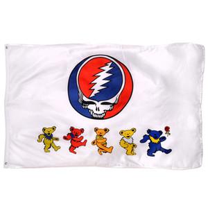 150x90cm 3X5FT Пользовательские Dancing Bear Flag 100% полиэстер Наружный Внутренний Usage, перевозка груза падения, самый популярный флаг