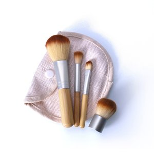 4PCS LOT Bamboo Brush Foundation Brush Make-up Brushes Cosmetic Face Powder Brush For Makeup Beauty Tool