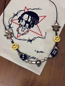 Asap Rocky Taro Pearl Collar A $ AP ROCKY Aprobado Hip Hop Street Dance Hombres y mujeres Pareja Collar de perlas