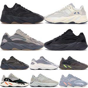 Yeni 700 V2 Dalga Koşucu Atalet Tephra Katı Gri Programı Siyah Vanta Koşuyoruz Ayakkabı Erkekler Tasarımcı Ayakkabı Kadınlar Statik Sneakers Eur 36-46