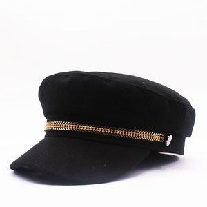 Designer de luxo inverno quente Hat grossas Pintores Wool Beret Chapéus Newsboy Caps Beret Boinas fresco do estilo para as Mulheres Homens