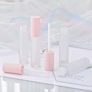 200pcs sacco quadrato vuoto Lip Gloss tubo gradiente Rosa Blu di plastica elegante del rossetto liquido cosmetico Contenitori 5ml Campione