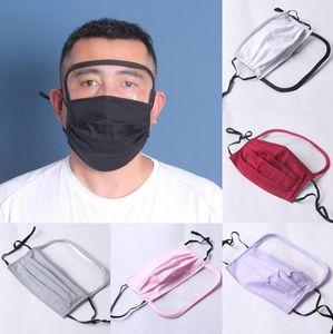 Mask Face Shield 7 Farben 2 in 1 Anti Staubfilter Vollgesichtsschutz Anti-Fog Waschbar Gesicht Mund-schützende Schablonen 100pcs LJJO8042