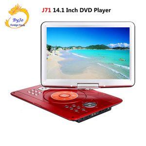DVD 플레이어 휴대용 TV 14.1 인치 1280x800 HD 디지털 LED TV 신호 및 U 드라이브 재생 수신으로 긴 배터리 수명