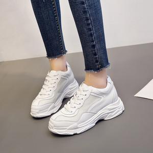 Перекрестное обучение обувь Walking Ардер обувь для женщин Кожа Спорт Soled Кроссовки Allmatch студентов Flat Fitness