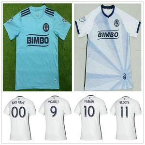 2019 2020 MLS Philadelphia Union Fußballjerseys 9 PICAULT 10 FABIAN 11 BEDOYA 19 BURKE 26 TRUSTY Individuelle weg weiße Fußball-Hemd Uniform