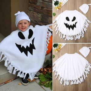 Boutique Vêtements enfants garçon bébé tout-petits enfants Blanc Cape Fantôme Halloween Fancy Taeesl Robe longue Cape Hat