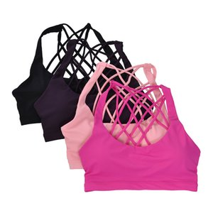 Sexy Cross Bendaggio Yoga Reggiseno sportivo da donna imbottito reggiseno Shake Proof Running Workout Gym Top Canotta Fitness Shirt Vest