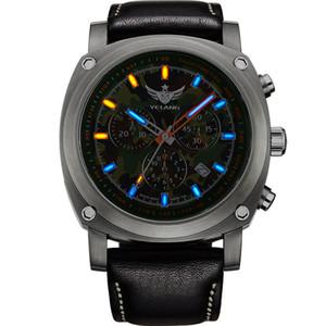 uomini orologio cronografo, mens trizio orologi Yelang sportiva militare titanio orologio da polso al quarzo T25 luminosa vigilanza impermeabile V3.2 T200409