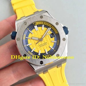 7 Color Men's Offshore Diver 42mm Yellow Dial 15710ST Watch Rubber Bands 15710 Swiss CAL.3120 Automatic Movement JF V9s Edition Watches