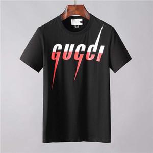 Novas Designer camisetas Mens Vestuário Marca Tops Camiseta Moda Verão Tide letras impressas camisa dos homens Luxo Roupa M-3XL