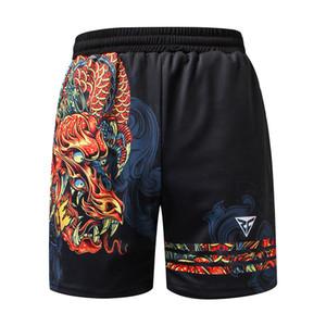 ZRCE 3D китайский дракон с принтом фитнес спортивные шорты на молнии карманы дышащие быстросохнущие анти-выцветание анти-пиллинг случайные шорты