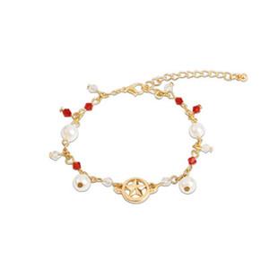 Charm Bracelet Pearl per le donne ragazze d'oro catena del pendente Sailor Moon Giappone Europa US polso di modo di monili impressionanti Regali del braccialetto di Natale