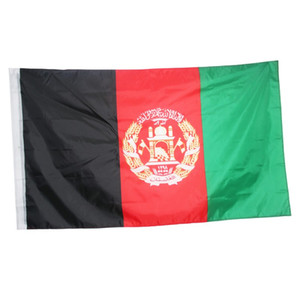 Афганистан Флага 3x5FT 150x90cm полиэстер печать Крытый Открытый Висячие горячий продавая национальный флаг с латунными креплениями Free Shippin